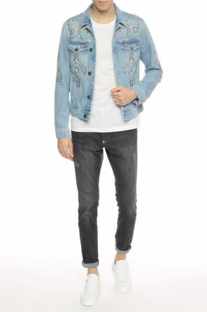 Studded denim jacket od Versace