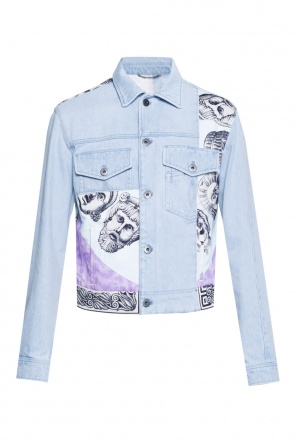 Printed denim jacket od Versace