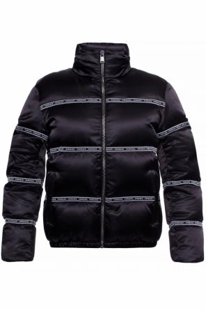 Down jacket with classic collar od Versace