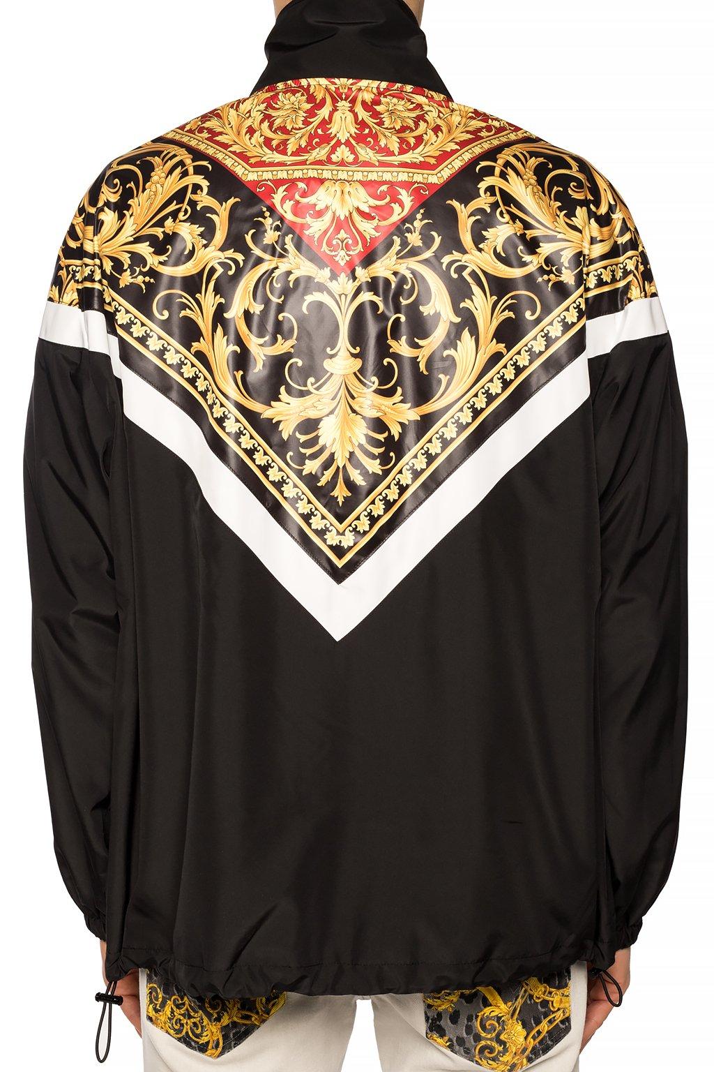 Versace Barocco-printed rainjacket