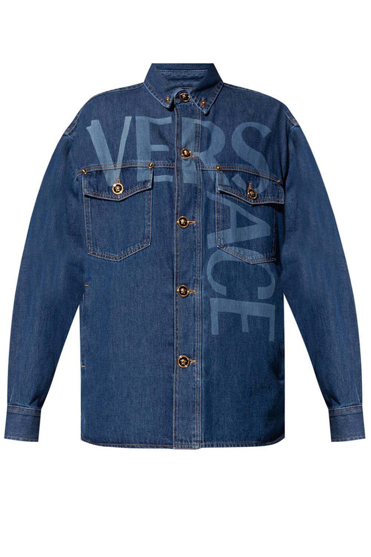 Versace Denim jacket with logo