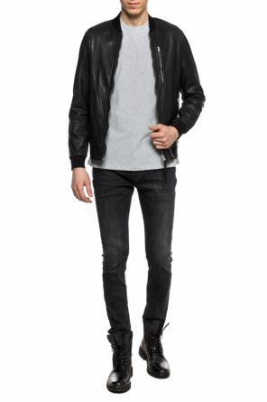 'abbot' jacket with sweatshirt elements od AllSaints