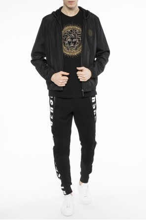Patched rain jacket od Versace