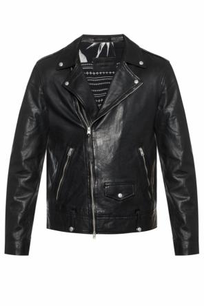 'ace' leather jacket od AllSaints