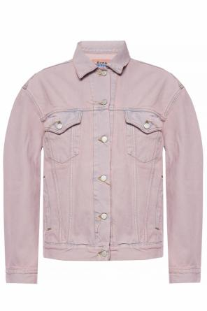 Distressed denim jacket od Acne