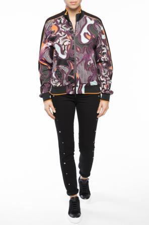 Band collar patterned sweatshirt od Versace