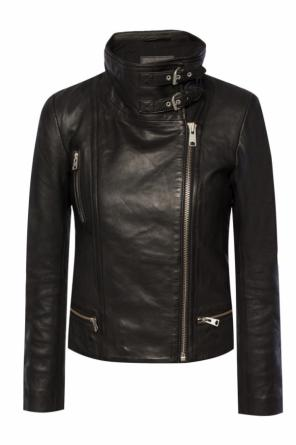 Leather jacket with collar od Allsaints