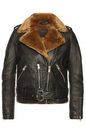 Cropped shearling jacket od AllSaints