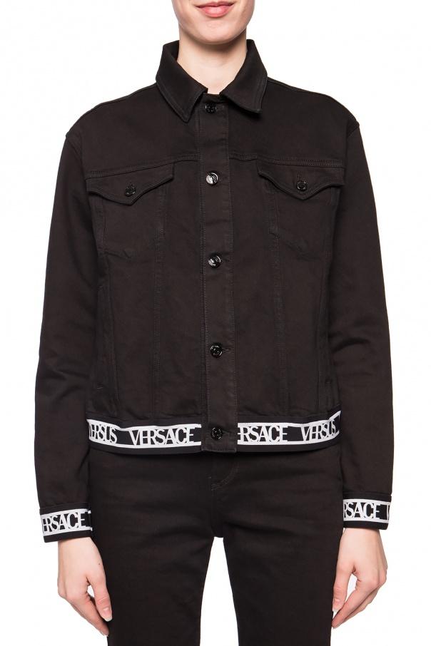 Kurtka jeansowa z logo od Versace Versus