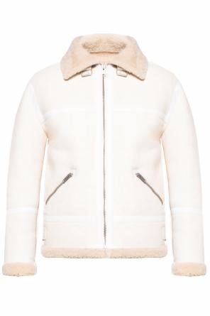 Shearling jacket with spread collar od Givenchy