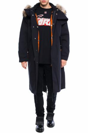 Long jacket with a detachable insulation od Givenchy