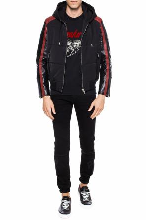 Jacket with leather sleeves od Givenchy