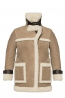 AllSaints 'Bronx' sheepskin coat with peak lapels