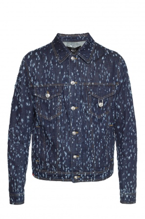 Distressed denim jacket od Versace Versus