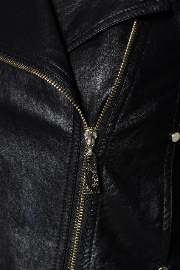 1ac75746b Cropped biker jacket Versace Jeans Couture - Vitkac shop online
