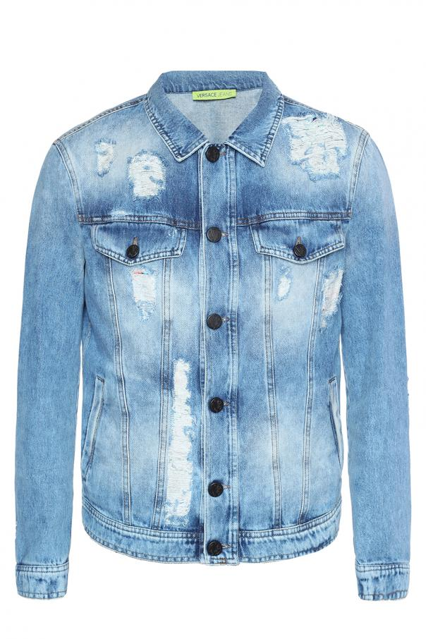 5a7a3881 Distressed denim jacket Versace Jeans - Vitkac shop online