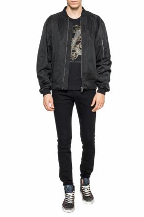 Logo-embroidered bomber jacket od Versace Jeans