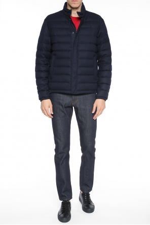 'fedor' quilted jacket with band collar od Moncler