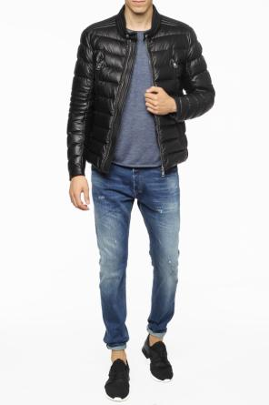 'amiot' quilted leather jacket od Moncler