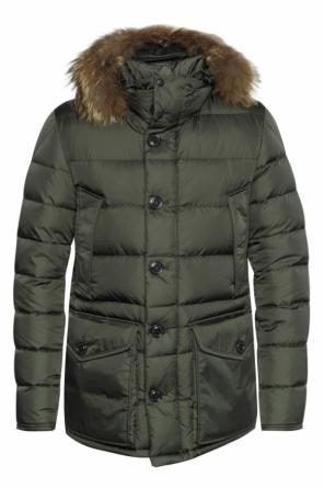Jacket with fur hood od Moncler