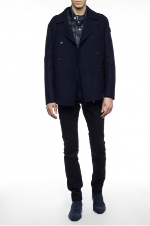Cropped coat with down lining od Moncler