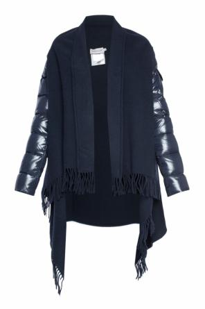 Cardigan with quilted sleeves od Moncler