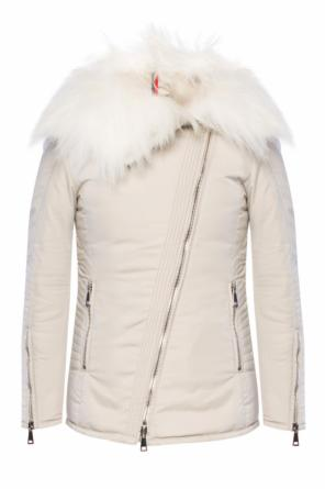 Fur collar jacket od Moncler