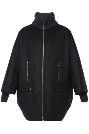 Oversize coat with jacket od Moncler