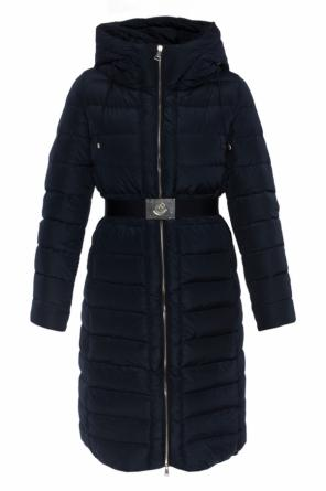Long quilted down jacket od Moncler