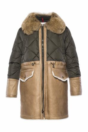 Quilted shearling jacket od Moncler