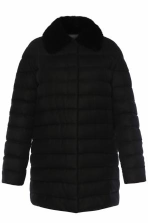 Cashmere jacket with mink fur od Moncler Gamme Rouge