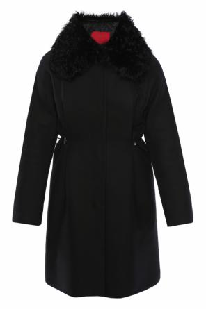 Fur collar coat od Moncler Gamme Rouge