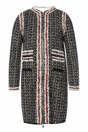 Tweed coat with down jacket od Moncler Gamme Rouge