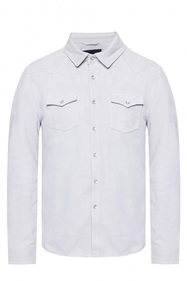 AllSaints 'Cayman' suede shirt