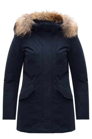 Raccoon fur down jacket od Woolrich