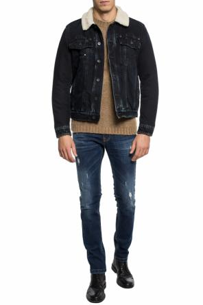 Distressed denim jacket od Dirk Bikkembergs