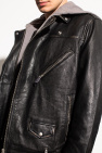 AllSaints 'Charter' leather jacket with hood