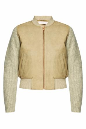 Bomber jacket with woven sleeves od See By Chloe