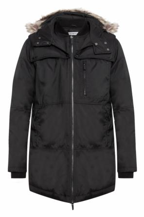 Down jacket with detachable hood od Dirk Bikkembergs