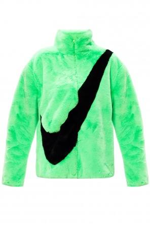 Fur jacket with logo od Nike