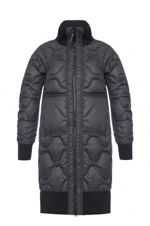 Quilted jacket with a logo od ADIDAS by Stella McCartney