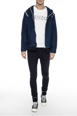 Hooded denim jacket od Diesel