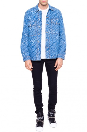 Logo-embroidered denim jacket od Diesel