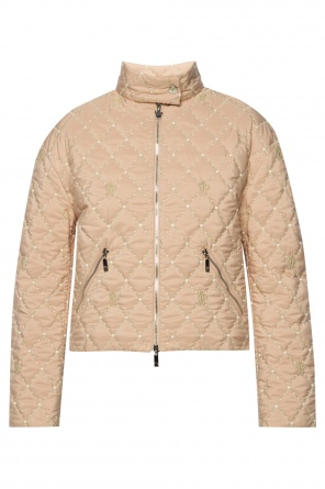 Quilted jacket with embroidered logo od Moncler
