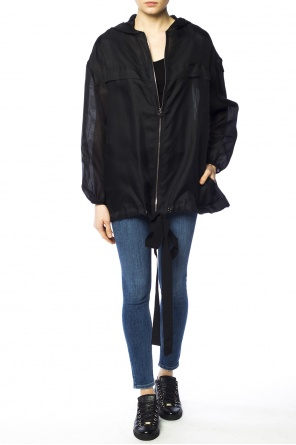 Sheer hooded jacket od Moncler Gamme Rouge