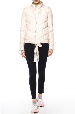 Quilted jacket with band collar od Moncler