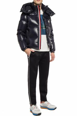 Logo-embroidered quilted jacket od Moncler