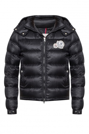 Logo-patched quilted jacket od Moncler