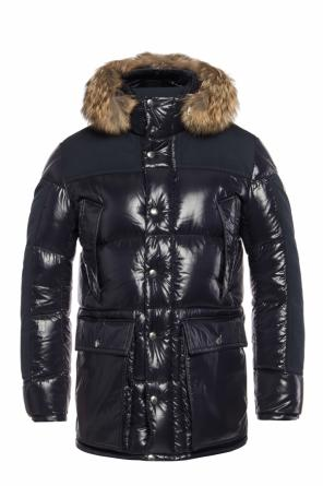 Down jacket with fur hood od Moncler