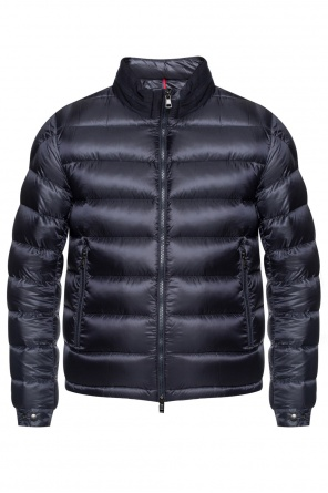 Down jacket with band collar od Moncler